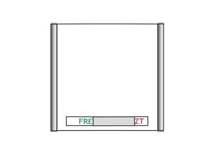 Türschild CIS.n - Frei / -Besetzt-Anzeige 153 x 148,5 mm (B x H)