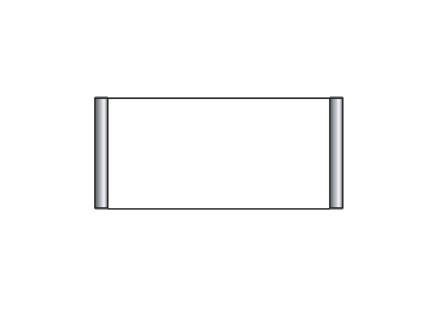 Türschild CIS.n 163 x 75 mm (B x H)