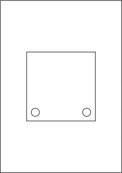 Laserdruck-Folien DIN A4 klar, vorgestanzt 120 x 120 mm