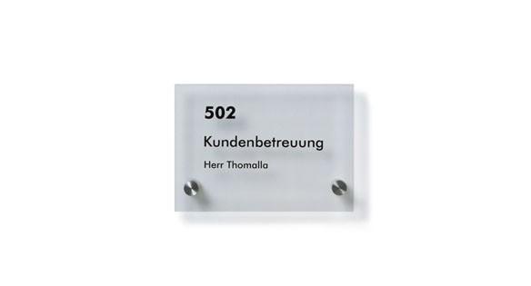 Türschild Unitex-K 155 x 110 mm (BxH)