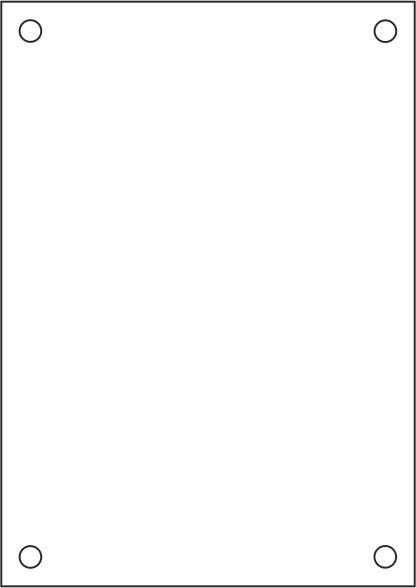 Laserdruck-Folien DIN A4 klar, vorgestanzt 210 x 297 mm (A4)
