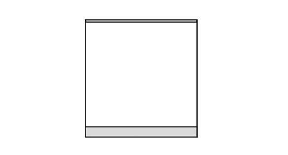 Türschild KRISTALLINO.w-Plexi 105 x 110 mm (BxH) hoch oder quer