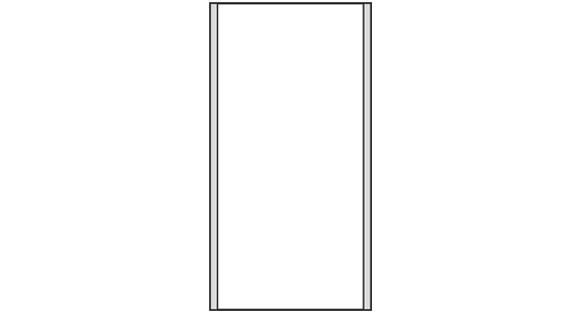 Türschild CISclic-plus 110 x 213 mm (BxH)