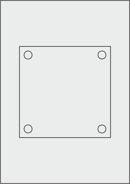 Laserdruck-Folien DIN A4 matt, vorgestanzt 150 x 150 mm