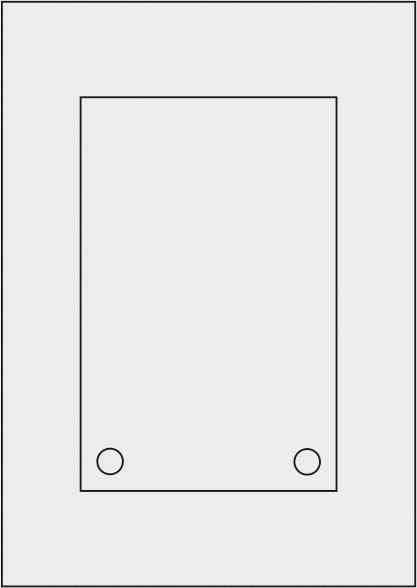 Laserdruck-Folien DIN A4 matt, vorgestanzt 130 x 200 mm