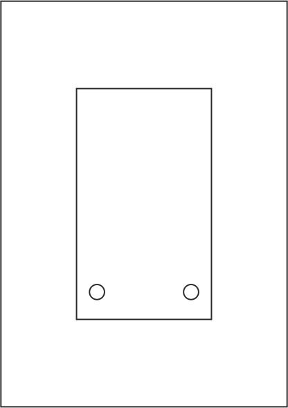 Laserdruck-Folien DIN A4 klar, vorgestanzt 100 x 170 mm