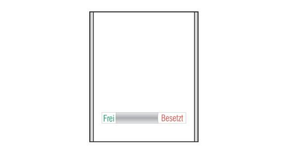 CISclic-plus Frei-Besetzt - 152 x 183 mm (BxH)
