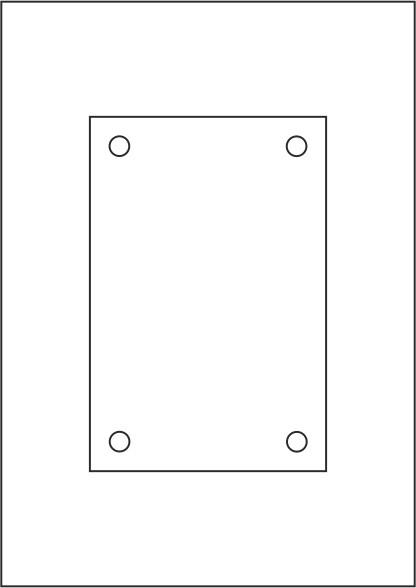 Laserdruck-Folien DIN A4 klar, vorgestanzt 120 x 180 mm