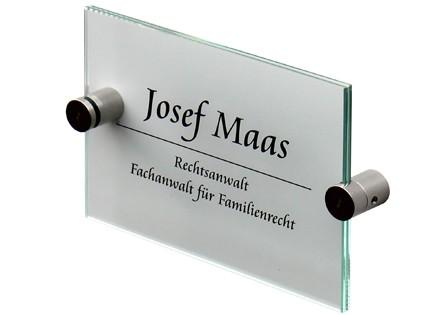 Glas-Türschild Inoxo-K 149 x 105 mm A6 (hoch oder quer)