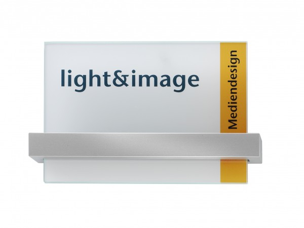 Glas-Türschild VISIGN 211 x 149 mm A5 quer (BxH)