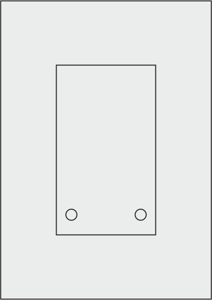 Laserdruck-Folien DIN A4 matt, vorgestanzt 100 x 170 mm