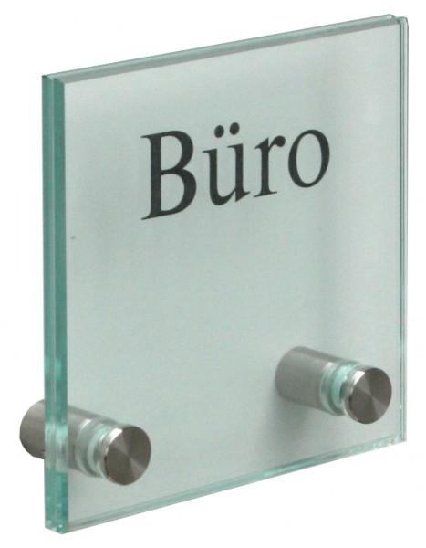 Glas-Türschild Kristallum-R 120 x 120 mm