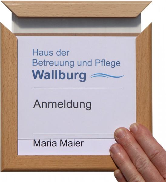 Türschild WoodSign-E-Buche 174 x 174 mm