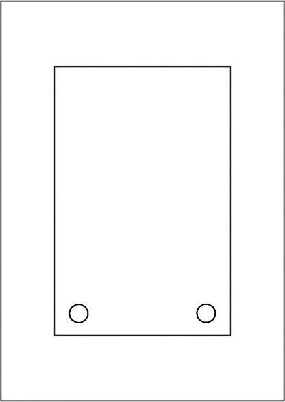 GALERIE-Laserdruck-Folien DIN A4 klar vorgestanzt 130 x 200 mm