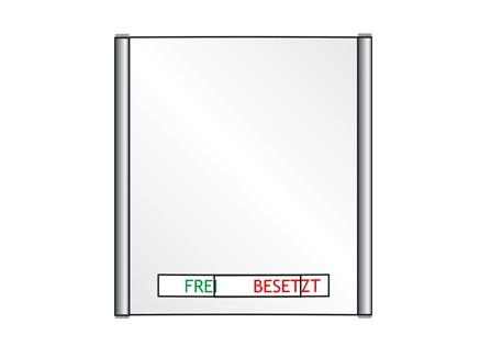 Plano - Frei-Besetzt - 162 x 180 mm (BxH)