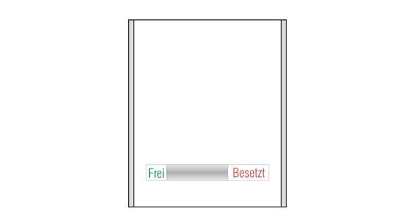 Türschild CISclic - Frei / Besetzt-Anzeige 152 x 180 mm (BxH)