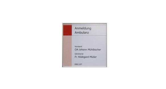 Türschild FORMOflach 108,5 x 108,5 mm