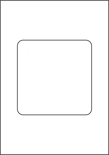 Papiereinleger MAXI 120g, DIN A4, vorgestanzt 1 x 144 x 144 mm