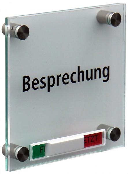 Kristallum - Frei-Besetzt - 150 x 150 mm