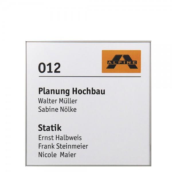 Türschild FORMOplex 213,5 x 213,5 mm