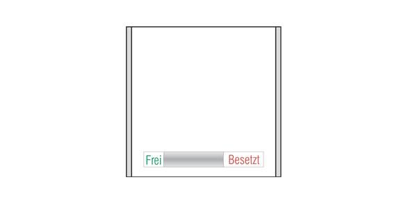 Türschild CISclic - Frei / Besetzt-Anzeige 152 x 148,5 mm (BxH)