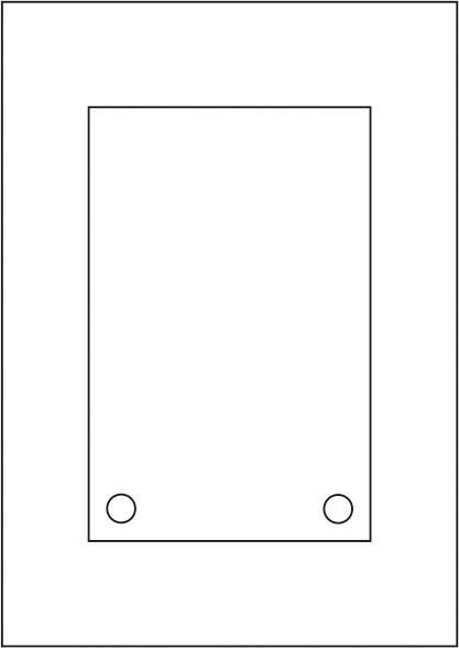 Laserdruck-Folien DIN A4 klar, vorgestanzt 130 x 200 mm