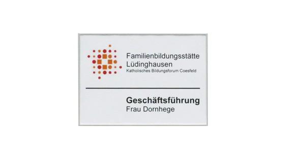 Türschild FORMOflach 173,5 x 108,5 mm