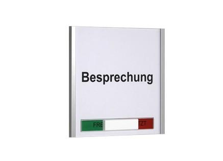 Türschild KRISTALLINO.s-Plexi Frei-Besetzt - 155 x 149 mm (BxH)