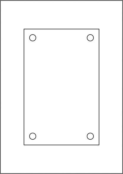Laserdruck-Folien DIN A4 klar, vorgestanzt 200 x 130 mm