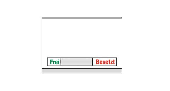 Türschild KRISTALLINO.w - Frei-Besetzt 149 x 110 mm (BxH)