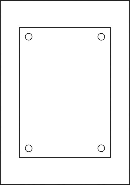 Laserdruck-Folien DIN A4 klar, vorgestanzt 210 x 148 mm (A5)