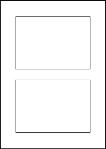 Papier 120g, DIN A4, vorgestanzt 2 x 105 x 148,5 mm