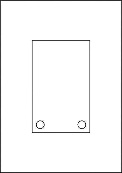 GALERIE-Laserdruck-Folien DIN A4 klar vorgestanzt 100 x 160 mm