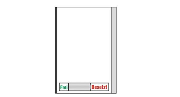 Türschild KRISTALLINO.w - Frei-Besetzt 110 x 149 mm (BxH)