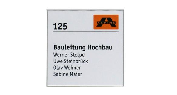 Türschild FORMOflach 173,5 x 173,5 mm