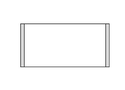 Türschild KRISTALLINO.s-Plexi 216 x 105 mm (BxH)