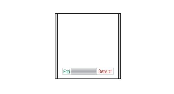Türschild CISclic-plus - Frei / Besetzt - Anzeige 152 x 151,5 mm (BxH)