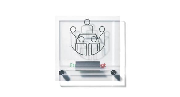 Türschild Unitex-K 155 x 155 mm - Frei - Besetzt