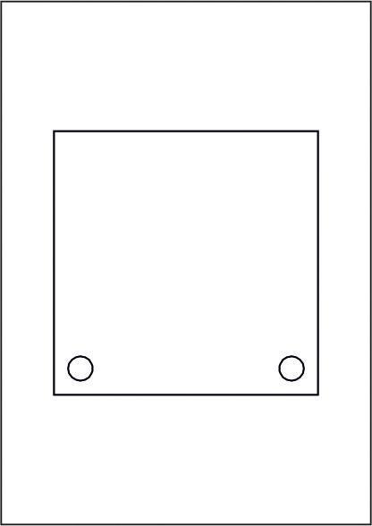 GALERIE-Laserdruck-Folien DIN A4 klar vorgestanzt 150 x 150 mm