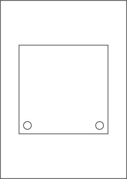 Laserdruck-Folien DIN A4 klar, vorgestanzt 150 x 150 mm