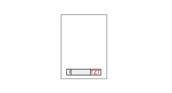 Türschild FORMOflach - Frei / Besetzt-Anzeige 108,5 x 152 mm (BxH)
