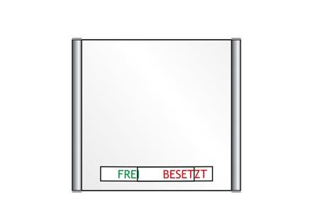 Türschild PLANO - Frei / Besetzt-Anzeige 162 x 148,5 mm (BxH)
