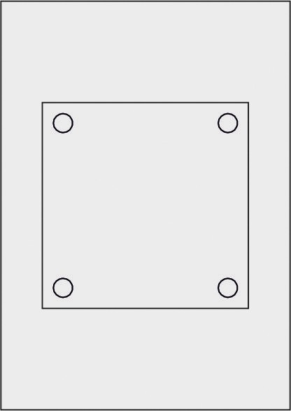 GALERIE-Laserdruck-Folien DIN A4 milchglas vorgestanzt 150 x 150 mm
