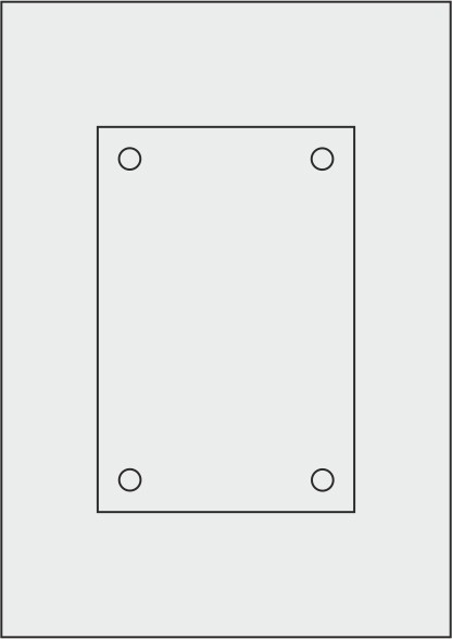 Laserdruck-Folien DIN A4 matt, vorgestanzt 120 x 180 mm