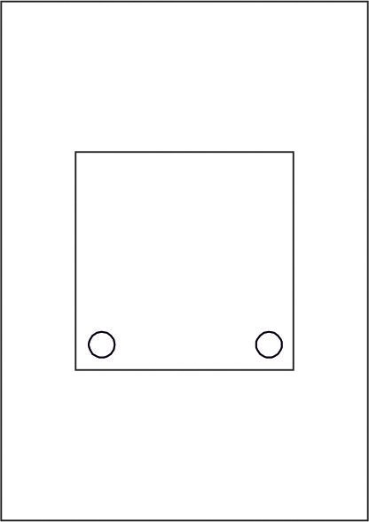 GALERIE-Laserdruck-Folien DIN A4 klar vorgestanzt 125 x 125 mm