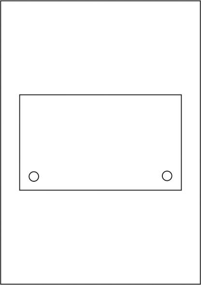 Laserdruck-Folien DIN A4 klar, vorgestanzt 170 x 100 mm