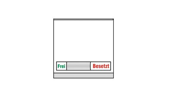 Türschild KRISTALLINO.w - Frei-Besetzt 105 x 110 mm (BxH)